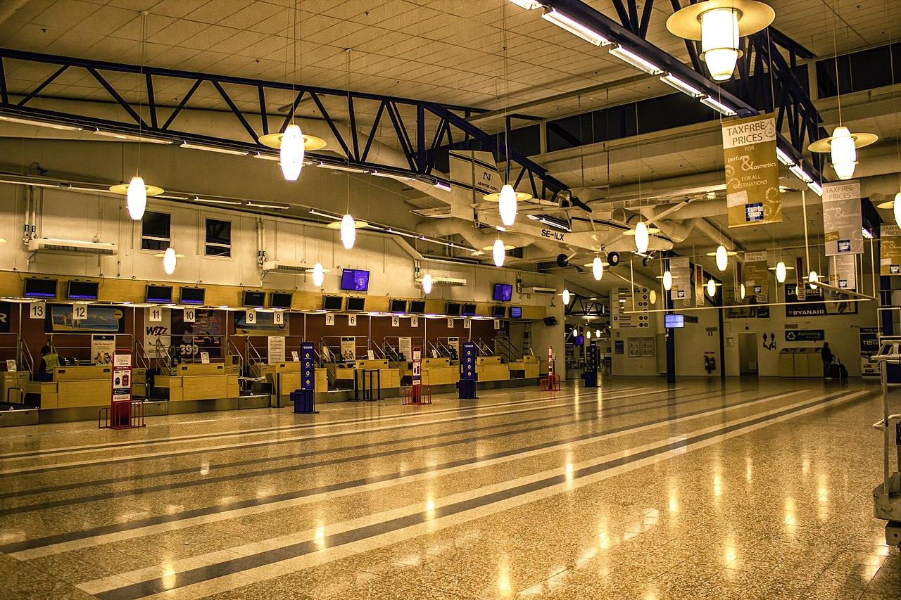 Skavsta flygplats ankomstterminalen