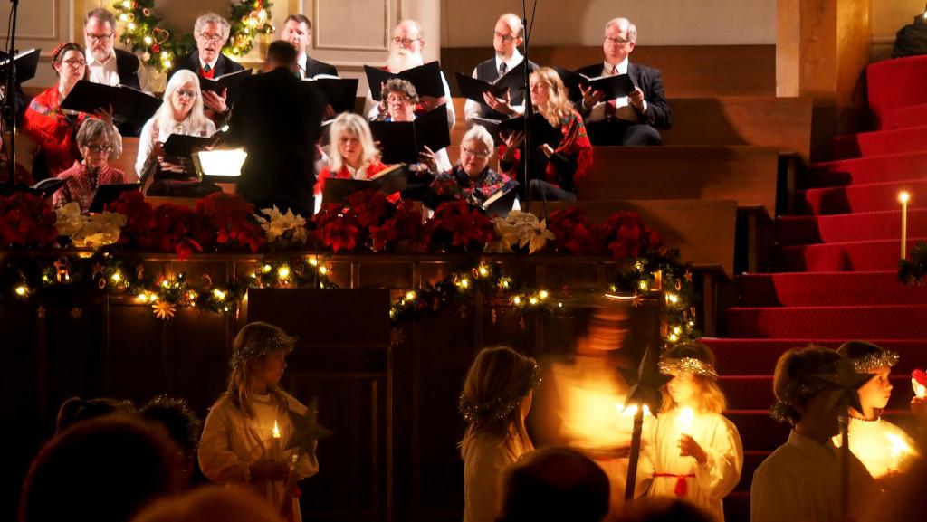 Julbild kyrka
